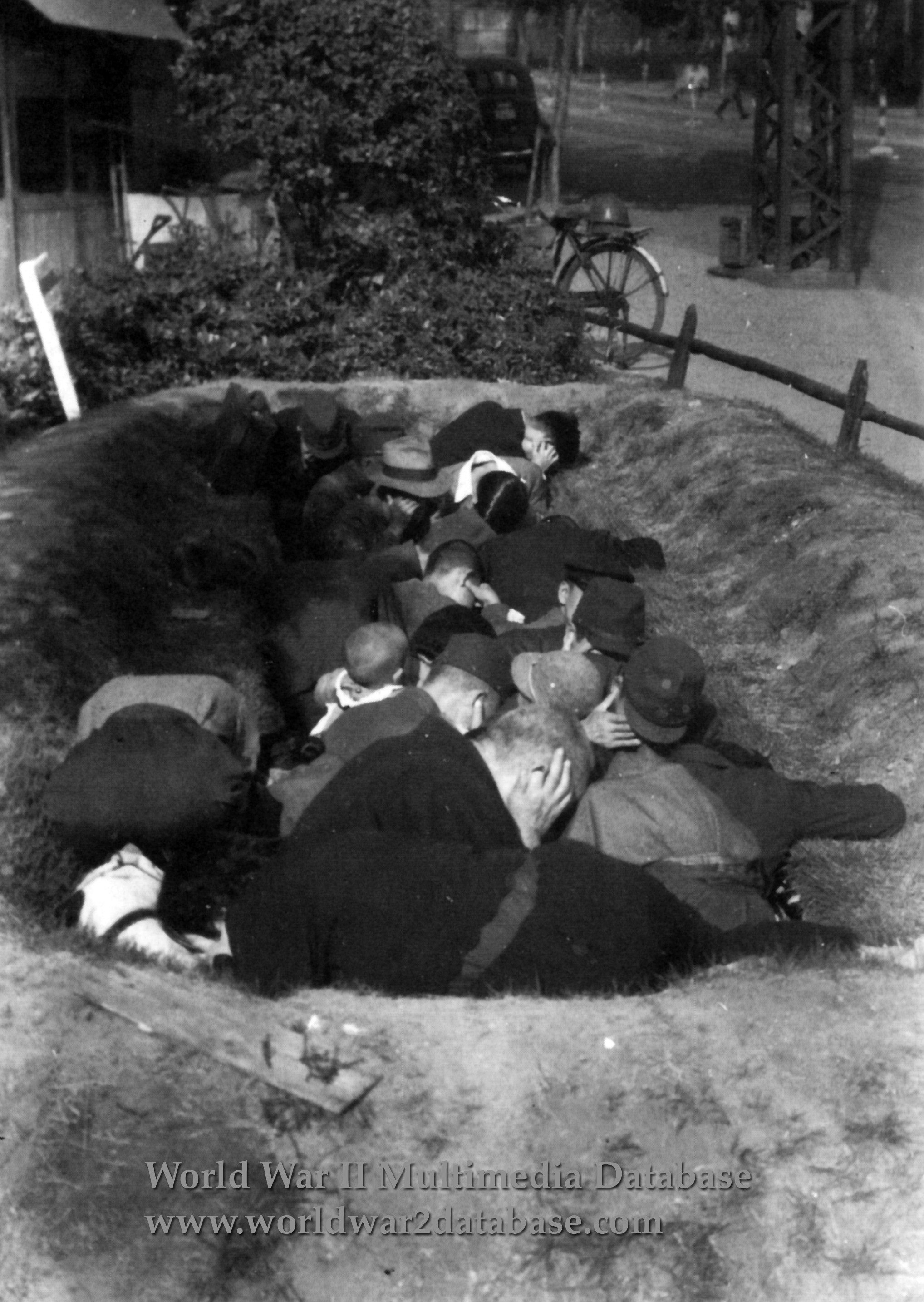Open Pit Air Raid Shelter