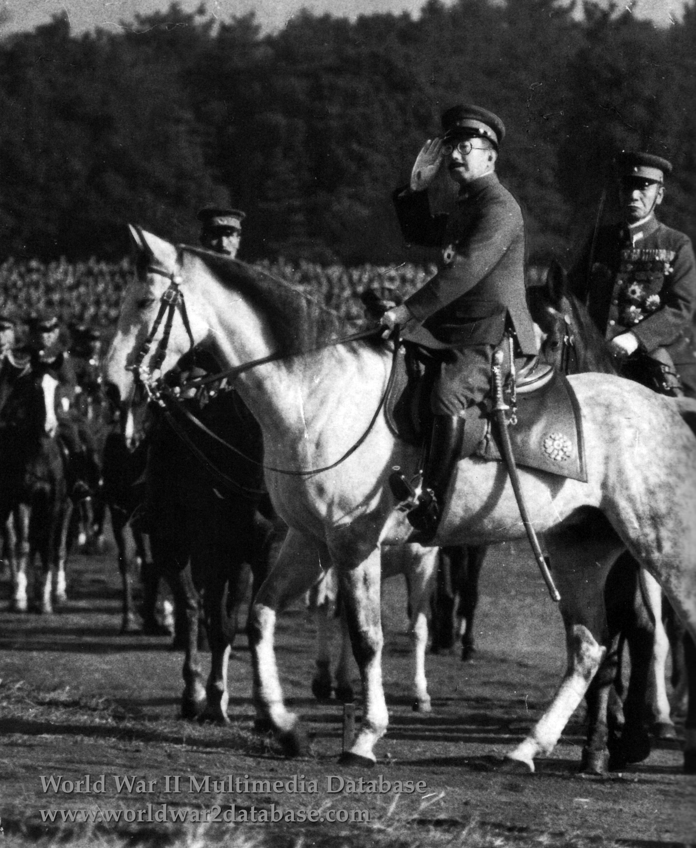 emperor hirohito reviews imperial japanese army maneuvers